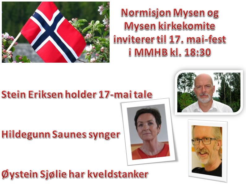 17. mai 2016 invitasjon