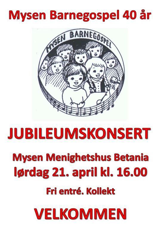 Plakat MBG 40 år bilde